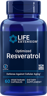 Optimized Resveratrol, 60 vegetarian capsules - Life Extension