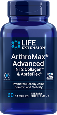 ArthroMax Advanced with NT2 Collagen & AprèsFlex, 60 capsules - Life Extension