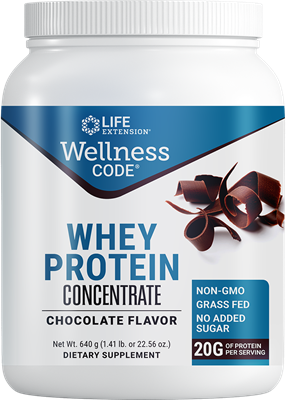 Wellness Code Whey Protein Concentrate (Chocolate), 640 grams - Life Extension