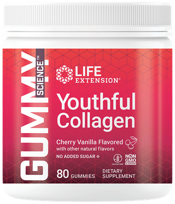 Gummy Science Youthful Collagen (Cherry), 80 gummies - Life Extension