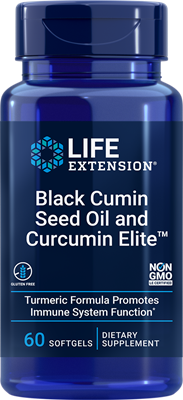 Black Cumin Seed Oil and Curcumin Elite Turmeric Extract, 60 softgels - Life Extension