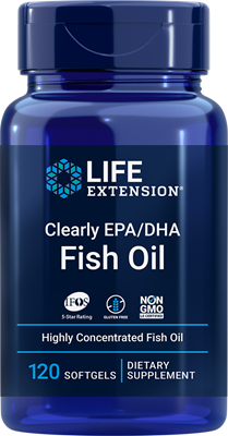 Clearly EPA/DHA Fish Oil, 120 softgels - Life Extension