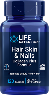 Hair, Skin & Nails Collagen Plus Formula, 120 tablets - Life Extension
