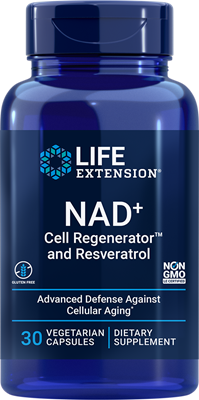 Optimized NAD+ Cell Regenerator and Resveratrol, 300 mg, 30 vegetarian capsules - Life Extension