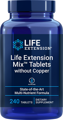 Life Extension Mix Tablets without Copper, 240 tablets - Life Extension
