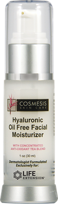 Hyaluronic Oil Free Facial Moisturizer, 1 oz - Life Extension
