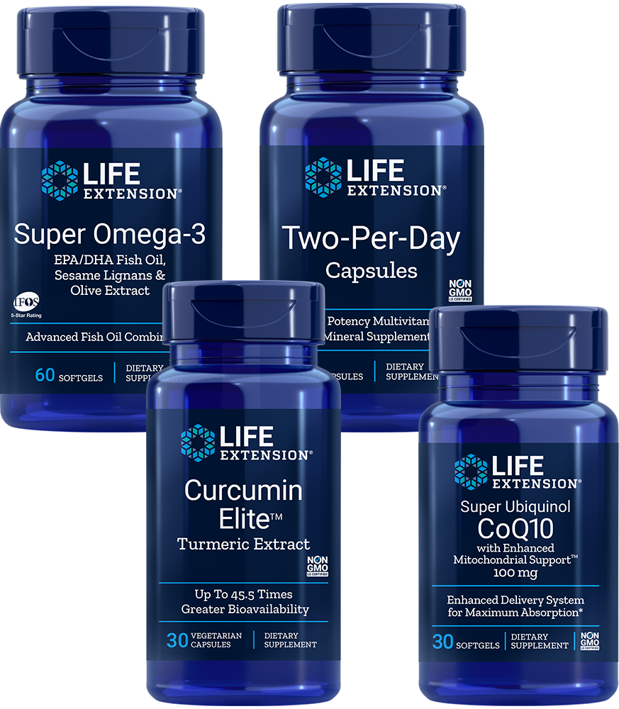 Core Health Essentials Kit - Four daily supplements for lasting health