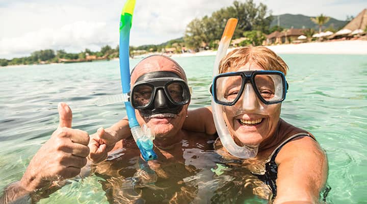 Active senior couple living a healthy lifestyle