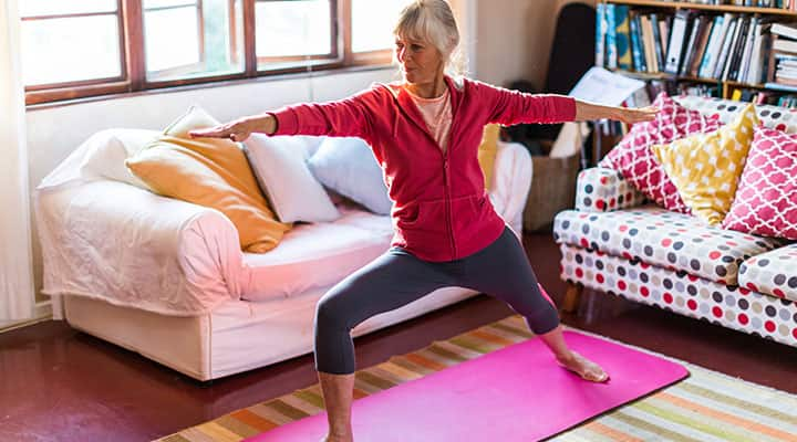Woman supplementing with adaptogens for mind-body balance