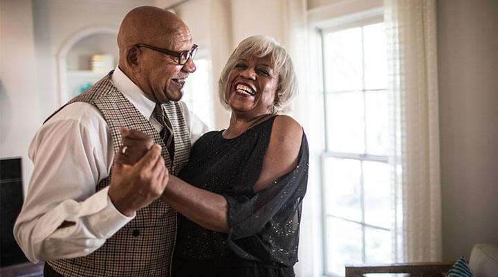 Older couple taking curcumin for whole body health