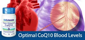 Optimal CoQ10 blood levels