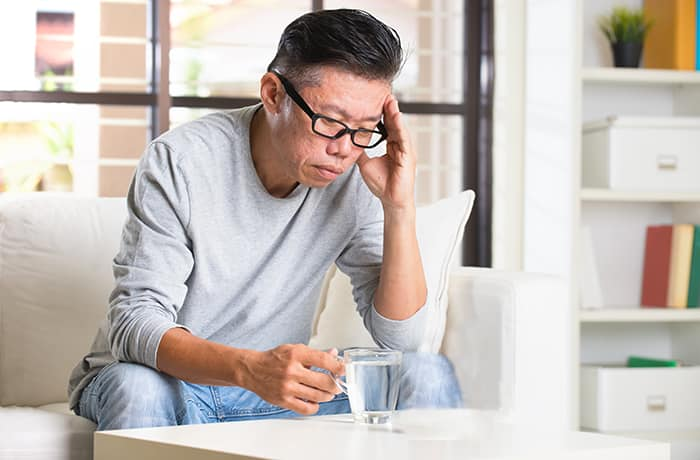 Migraine associated with nutritional deficiencies