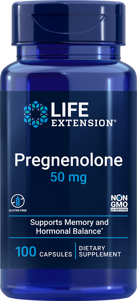 Life Extension Pregnenolone - 50 mg (100 Capsules)