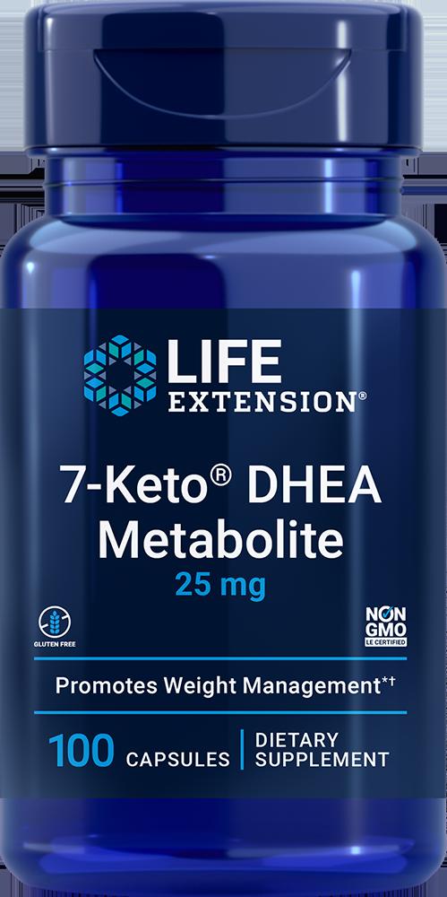 Life Extension 7-Keto® DHEA Metabolite - 25 mg (100 Capsules)