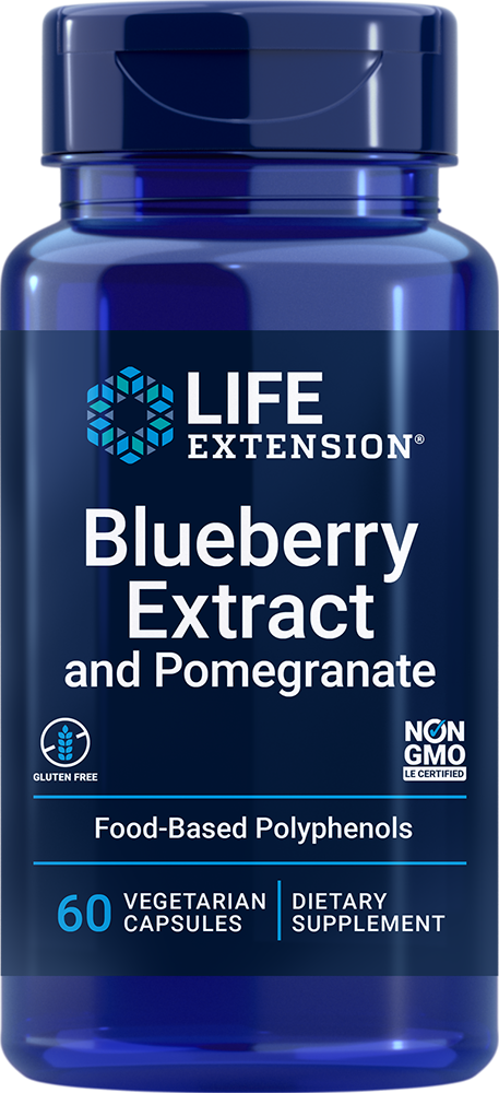 Life Extension Blueberry Extract and Pomegranate (60 Capsules, Vegetarian)