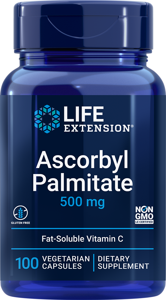 Life Extension Ascorbyl Palmitate - 500 mg (100 Vegetarian Capsules)
