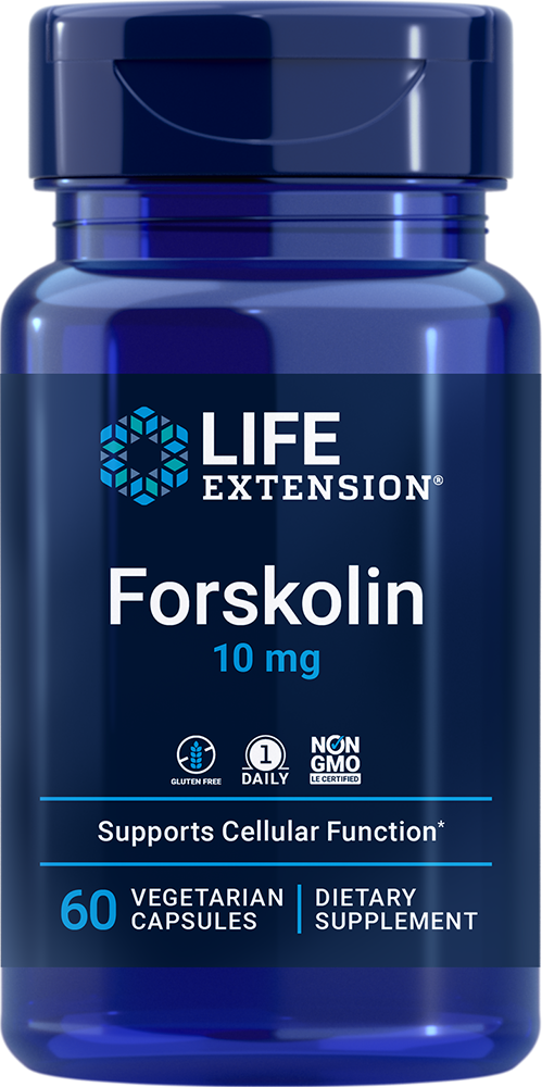 Life Extension Forskolin - 10 mg (60 Vegetarian Capsules)