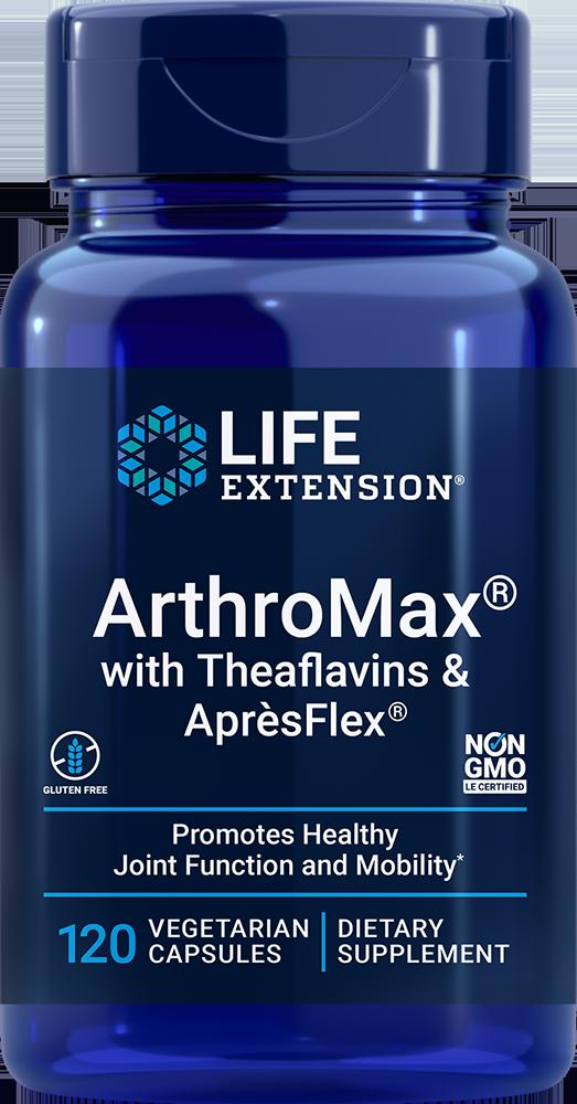 Life Extension ArthroMax® with Theaflavins & AprèsFlex® (120 Capsules, Vegetarian)