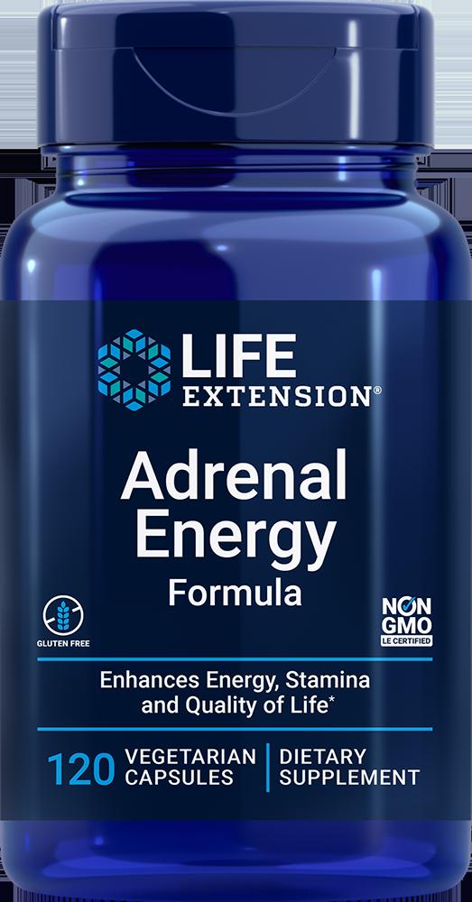Life Extension Adrenal Energy Formula (120 Vegetarian Capsules)