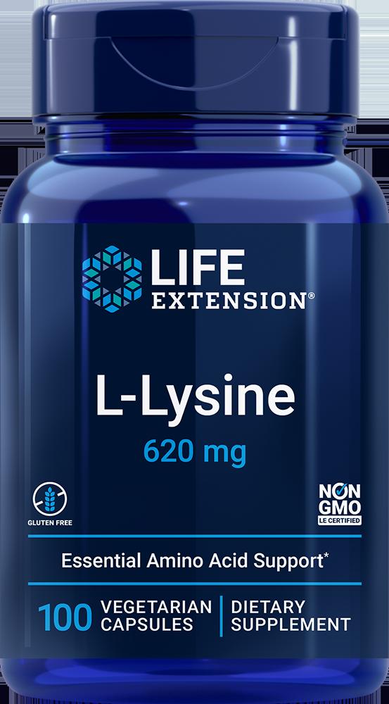 Life Extension L-Lysine - 620 mg (100 Vegetarian Capsules)