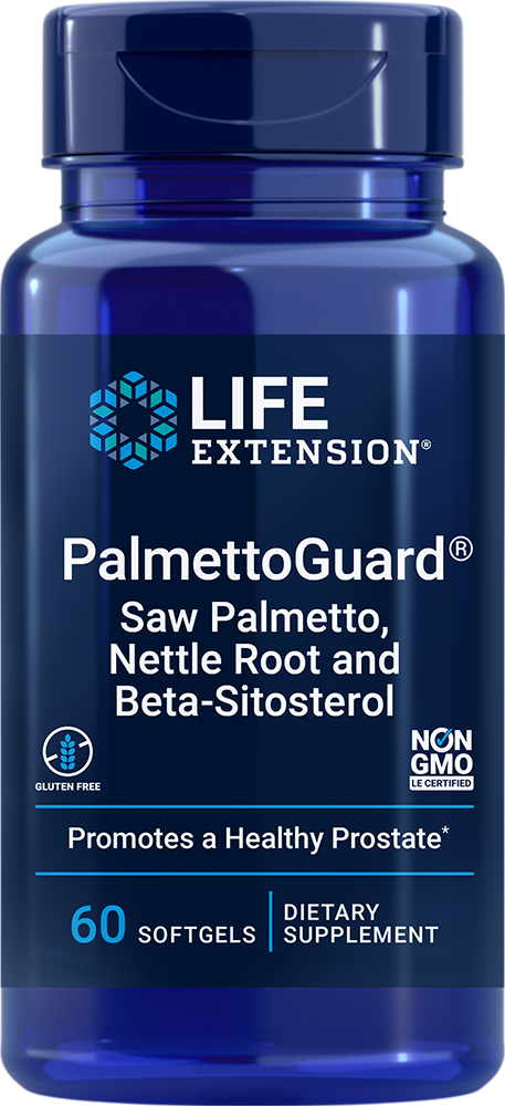 Life Extension PalmettoGuard? Saw Palmetto/Nettle Root Formula with Beta-Sitosterol (60 Softgels)
