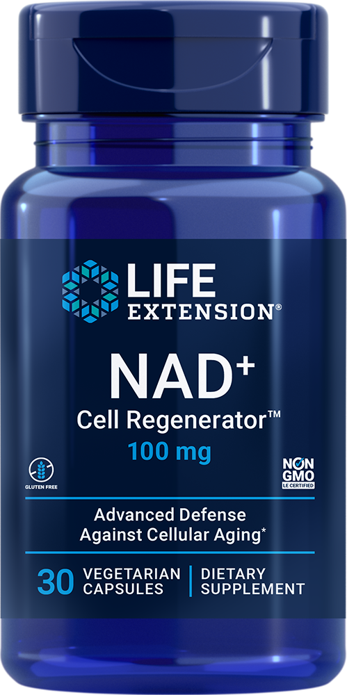 Life Extension NAD+ Cell Regenerator - 100 mg (30 Capsules, Vegetarian)