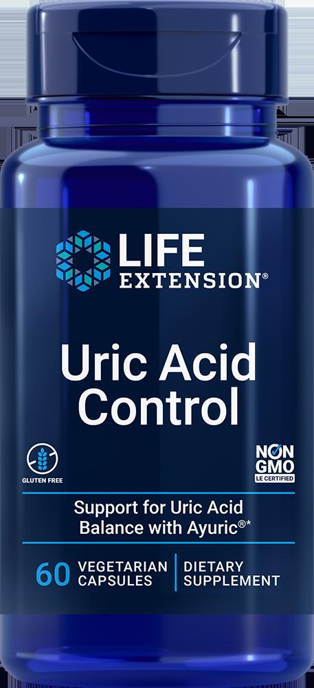 Life Extension Uric Acid Control (60 Vegetarian Capsules)