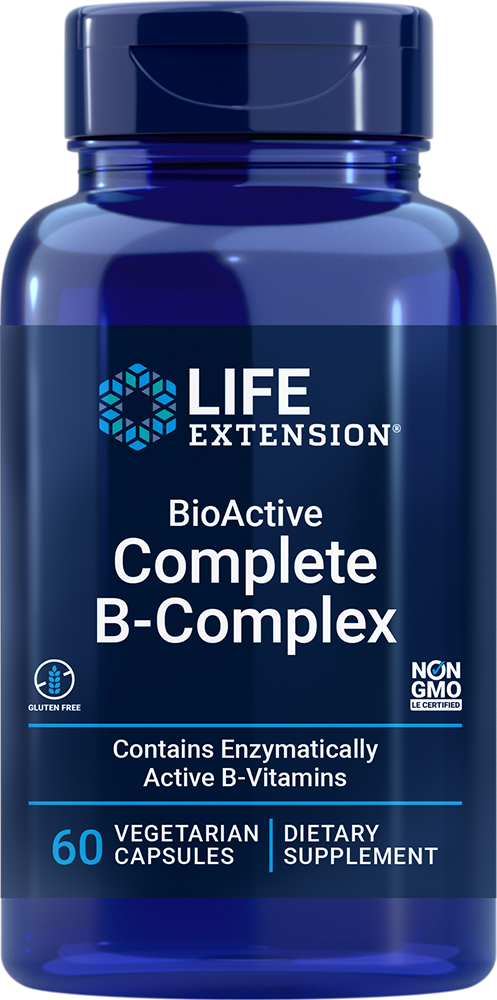 Life Extension BioActive Complete B-Complex (60 Vegetarian Capsules)