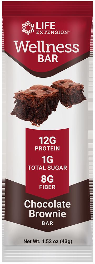 Life Extension Wellness Bar Chocolate Brownie Flavor, 12 each