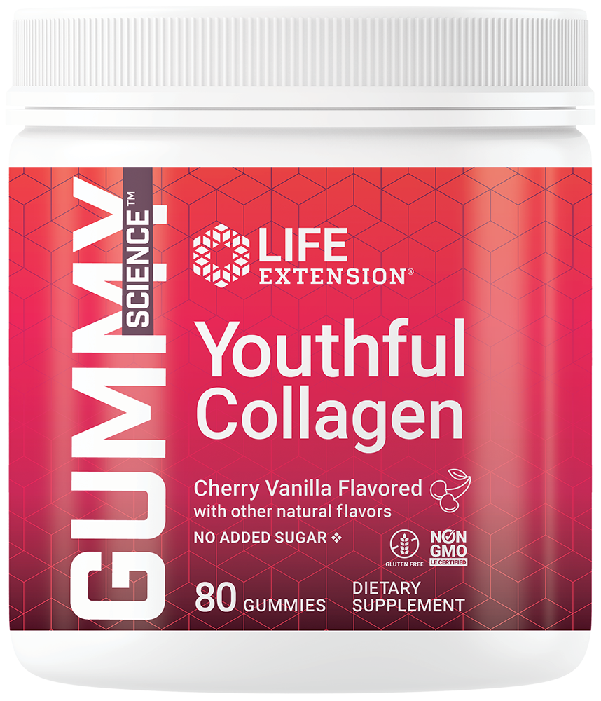 lifeextension.com - Life Extension Gummy Science Youthful Collagen, Cherry, 80 gummies 25.50 USD