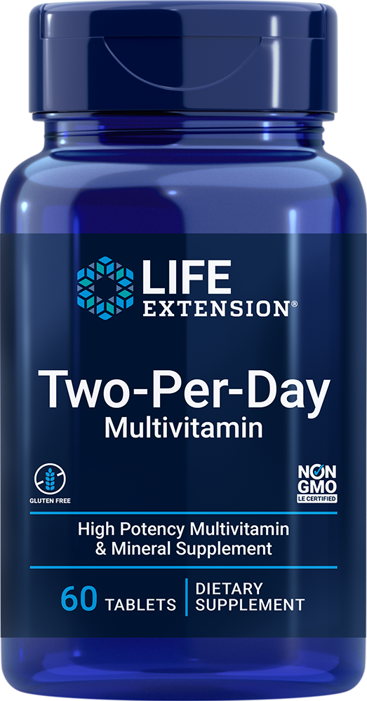 lifeextension.com - Life Extension Two-Per-Day Tablets, 60 Multivitamin tablets 9.00 USD