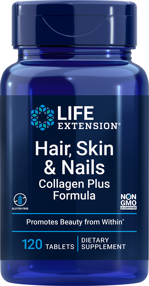 lifeextension.com - Life Extension Hair, Skin & Nails Collagen Plus Formula (120 Tablets) 24.00 USD