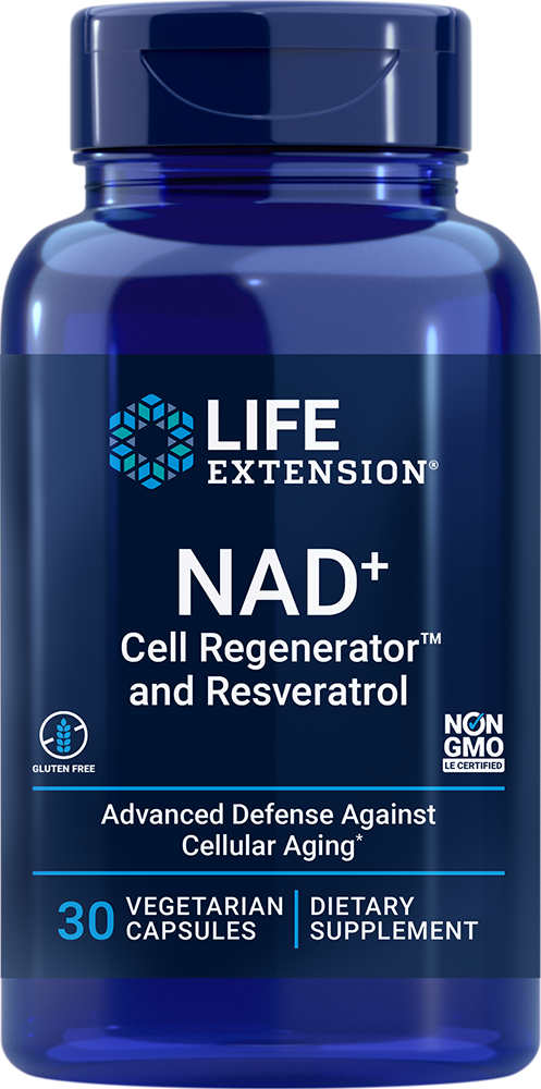lifeextension.com - Life Extension NAD+ Cell Regenerator™ and Resveratrol – 300 mg (30 Vegetarian Capsules) 45.00 USD