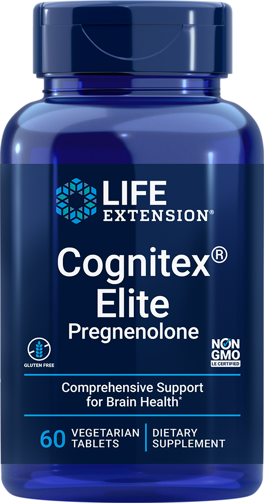 lifeextension.com - Life Extension Cognitex® Elite Pregnenolone (60 Vegetarian Tablets) 43.50 USD