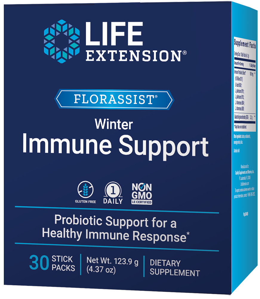 lifeextension.com - Life Extension FLORASSIST Winter Immune Support, 30 stick packets 29.25 USD