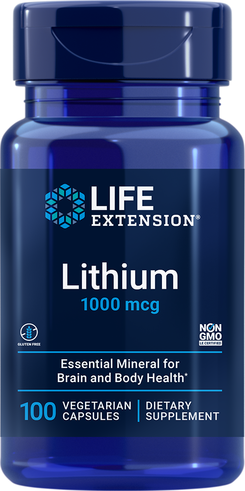 lifeextension.com - Life Extension Lithium – 1000 mcg (100 Capsules) 12.00 USD