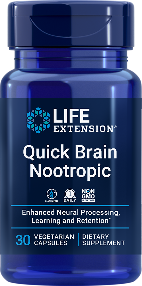 lifeextension.com - Life Extension Quick Brain Nootropic (30 Vegetarian Capsules) 16.50 USD