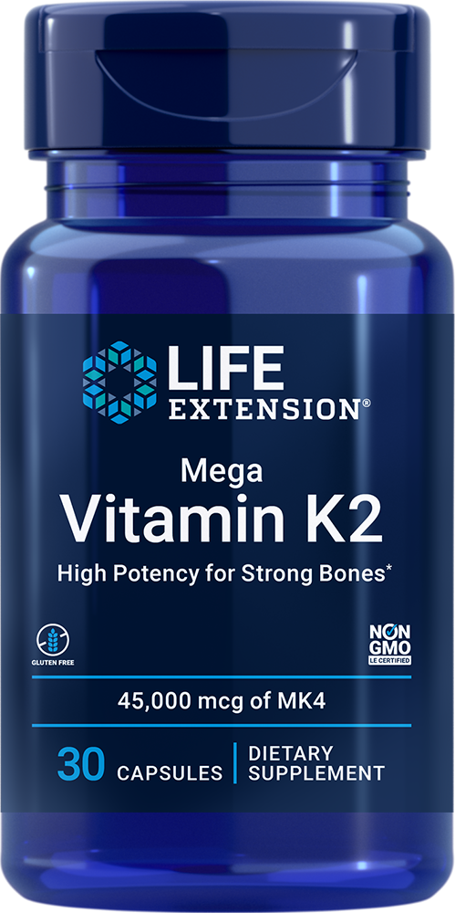 lifeextension.com - Life Extension Mega Vitamin K2, 45 mg – 45000 mcg (30 Capsules) 28.50 USD