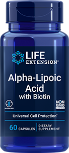 Life Extension Alpha-Lipoic Acid with Biotin (60 Capsules)