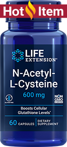 Life Extension N-Acetyl-L-Cysteine - 600 mg (60 Capsules)