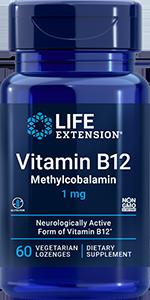 Life Extension Methylcobalamin - 1 mg (60 Vegetarian Lozenges)