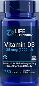 Life Extension Vitamin D3, 1000 IU - 25 mcg (250 Softgels)