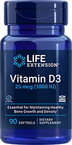 Vitamin D3, 25 mcg (1000 IU), 90 softgels