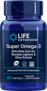 Life Extension Super Omega-3 EPA/DHA Fish Oil, Sesame Lignans & Olive Extract (60 Softgels)