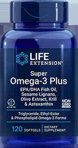 S Omega3 + EPA/DHA Fish Oil w/ Krill & Asta, 120 S