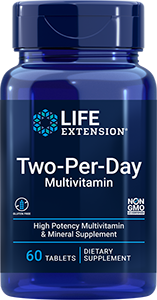 Life Extension Two-Per-Day Tablets, 60 Multivitamin tablets