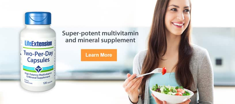 Two-Per-Day Capsules - Super-potent multivitamin and mineral supplement. Click here to learn more