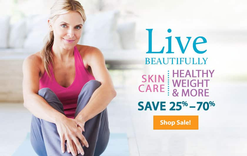Live Beautifully Skin Care and Weight Loss Sale