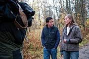 Dr. Sanjay Gupta and Dr. Anna Bagenholm in Tromso, Norway, on location during shooting of Another Day: 