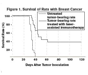 Figure 1 Survival of Rats with Breast Cancer